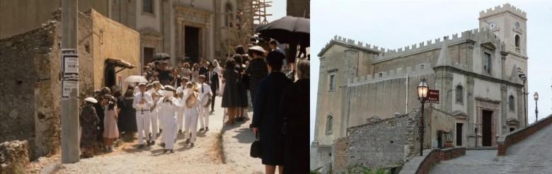 """Kościół San Nicolo w kadrze z """"Ojca Chrzestnego"""" i dziś"""