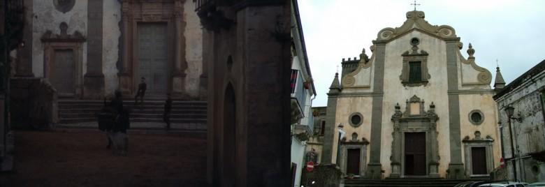 """Kościół Sant'Agostino w kadrze z """"Ojca Chrzestnego II"""" i dziś"""
