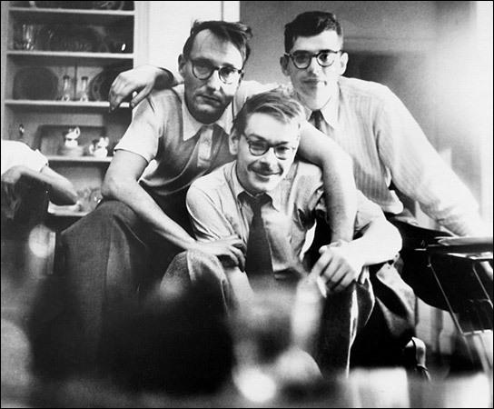 Lucien Carr, William S. Burroughs, Allen Ginsberg