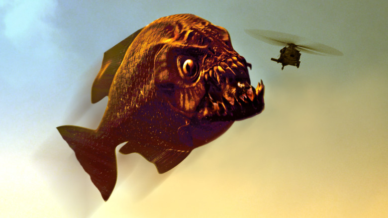 Piranha-eating-helicopter
