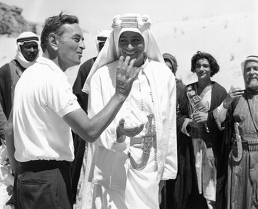 David Lean i Peter O'Toole na planie
