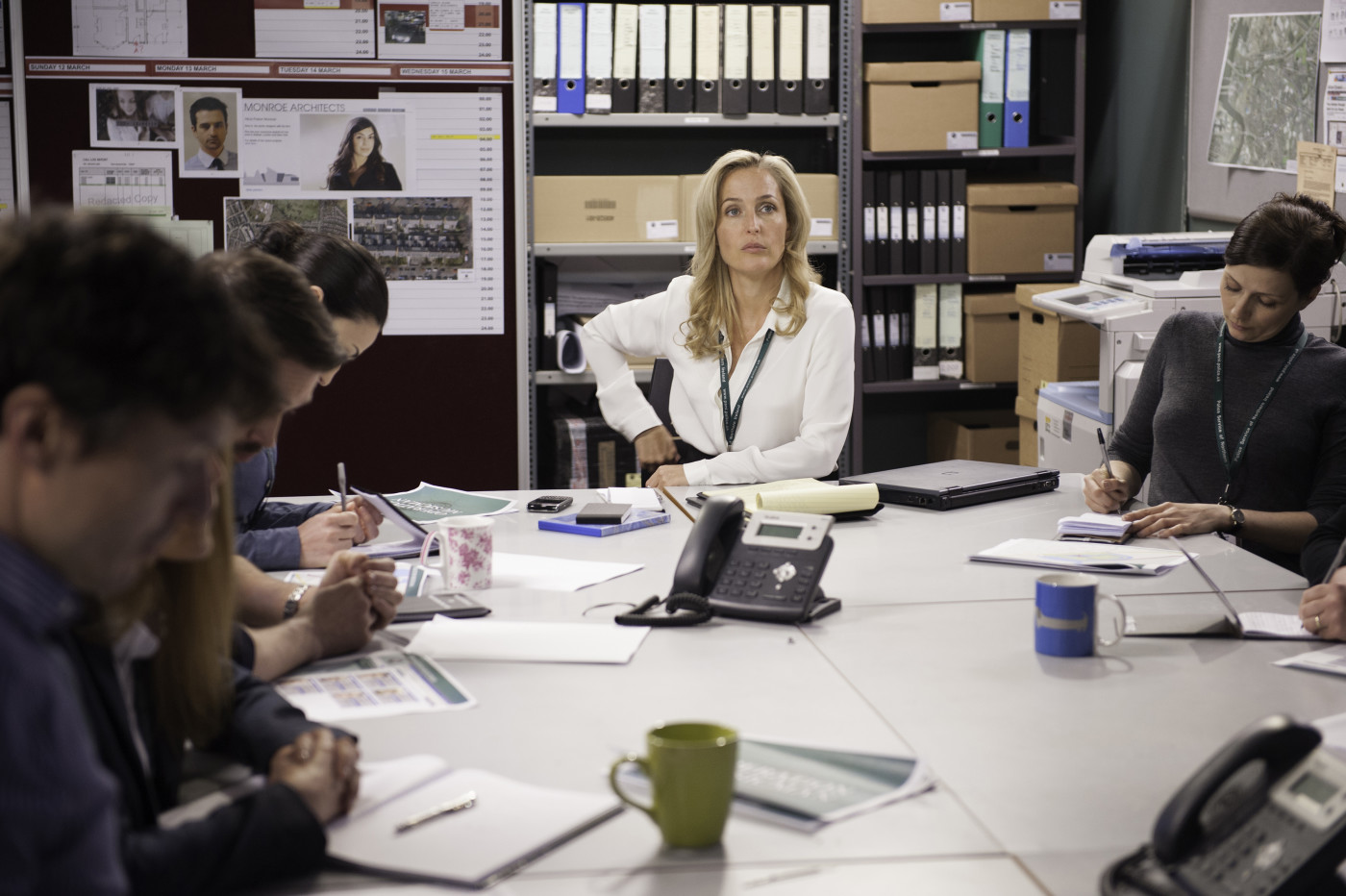 "Gillian Anderson in ""The Fall"" season 2.  Photo courtesy of Netflix"