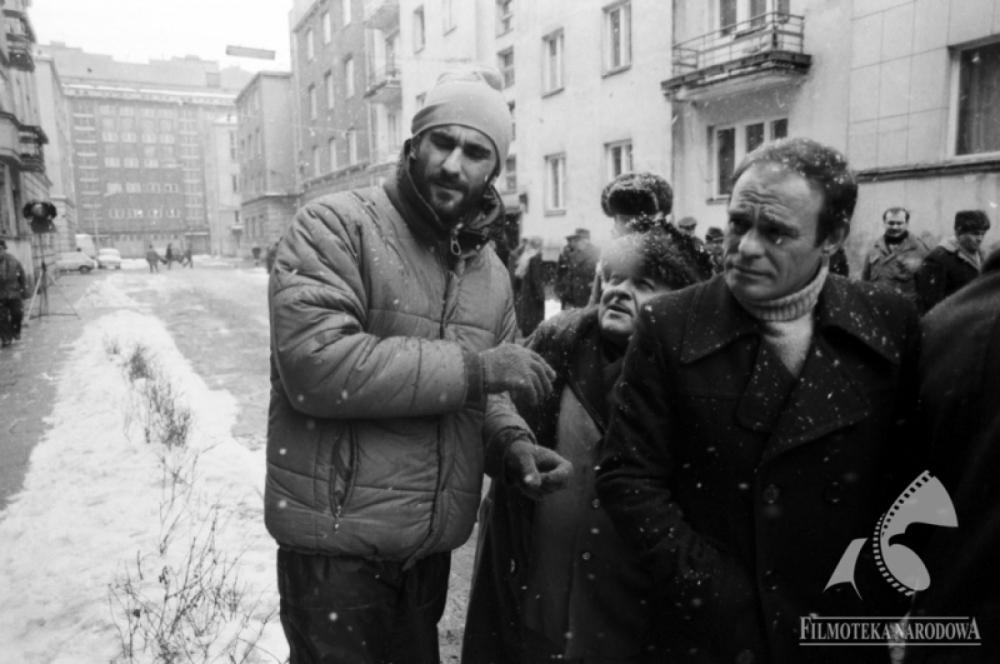"""Piotr Szulkin z Romanem Wilhelmi na planie """"Wojny światów"""""""