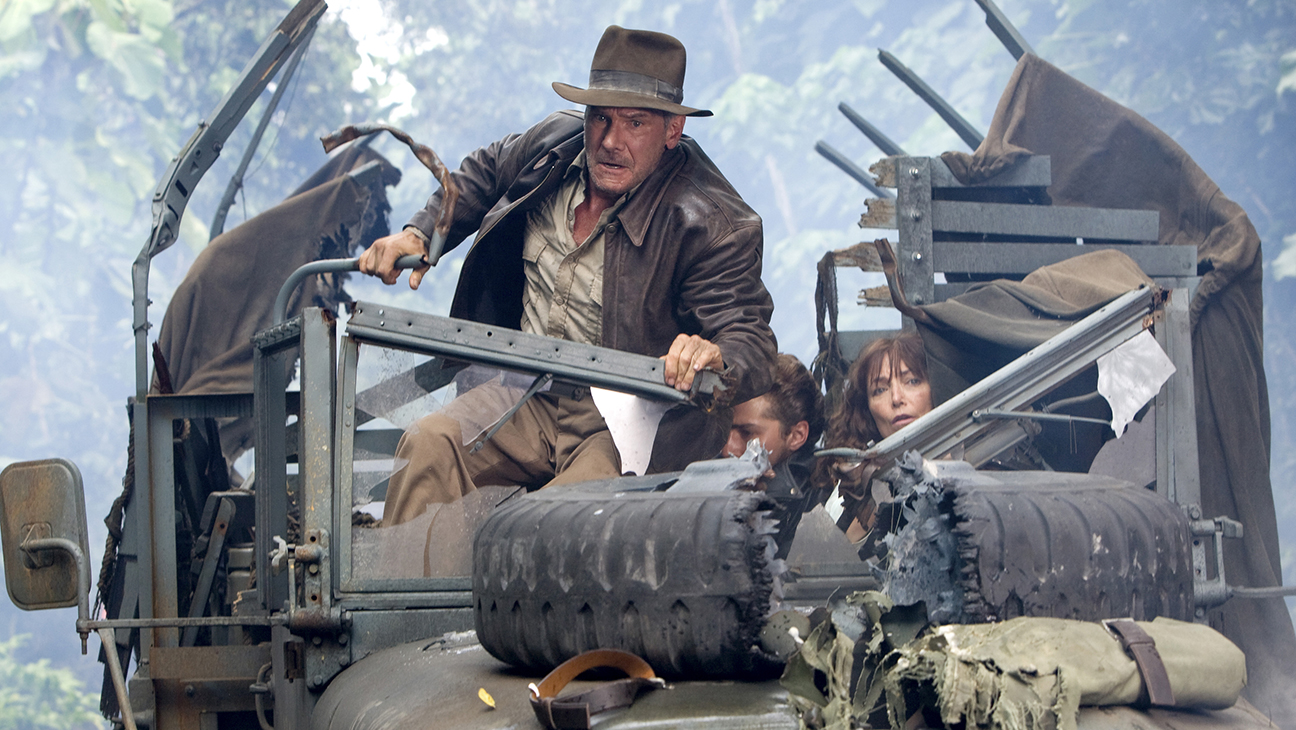 Indiana Jones and the Kingdom of the Crystal Skull (2008) Directed by Steven Spielberg Shown from left: Harrison Ford, Shia LaBeouf, Karen Allen