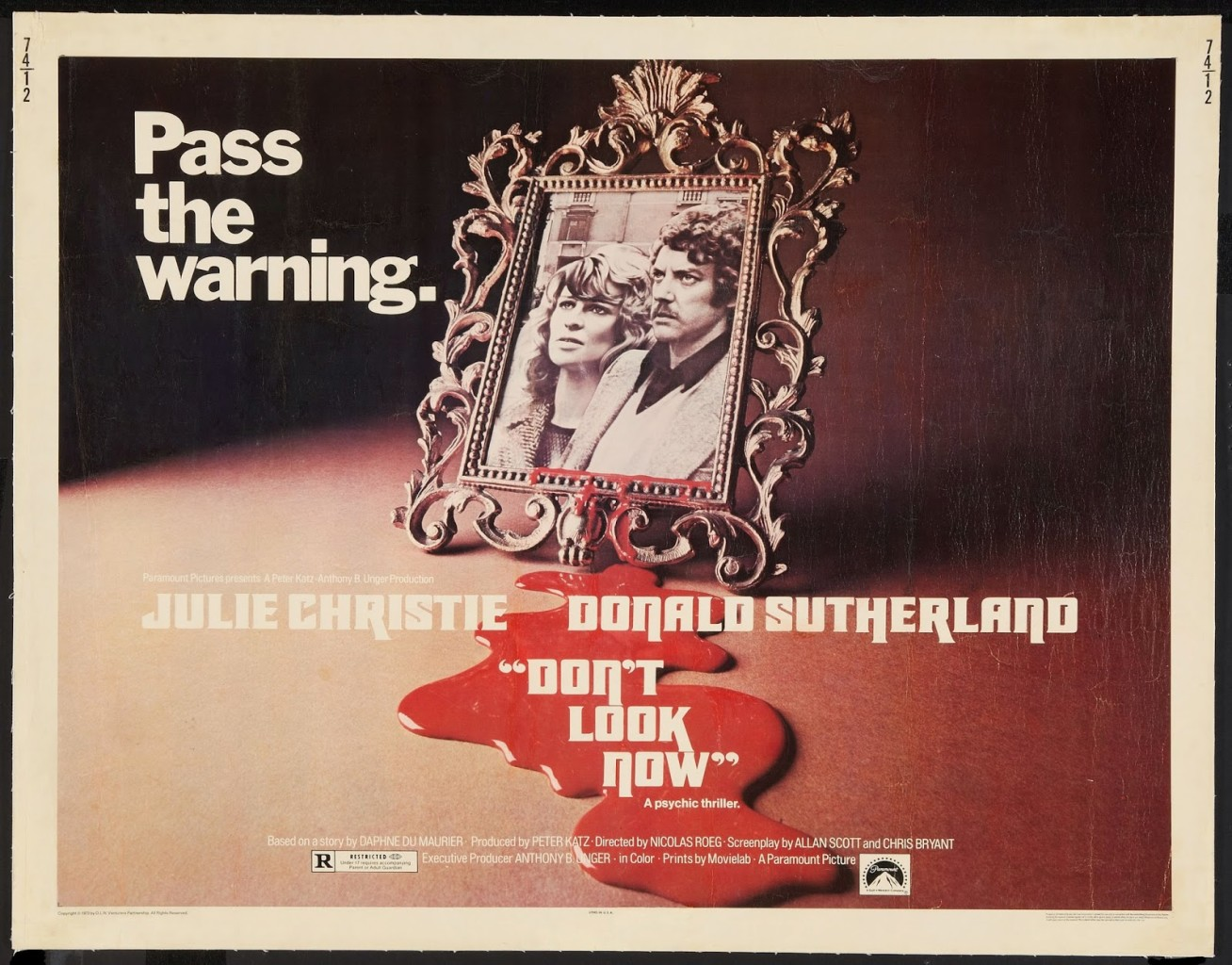 DON'T LOOK NOW - American Poster 2