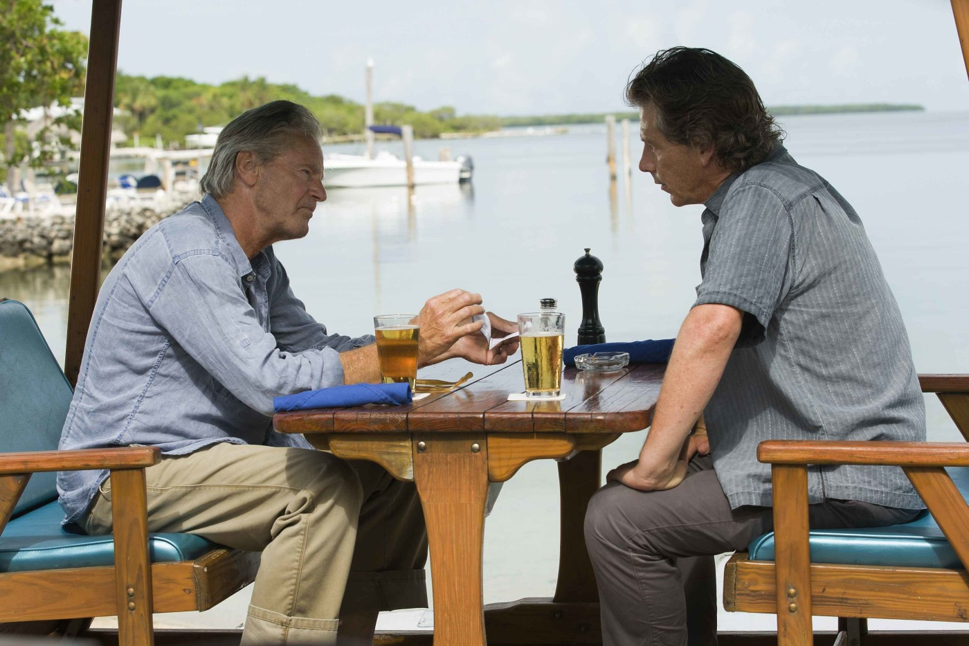 Sam Shepard (Robert Rayburn) and Ben Mendelsohn (Danny Rayburn) in the Netflix Original Series BLOODLINE. Photo Credit: Saeed Adyani © 2014 Netflix, Inc. All Rights Reserved.