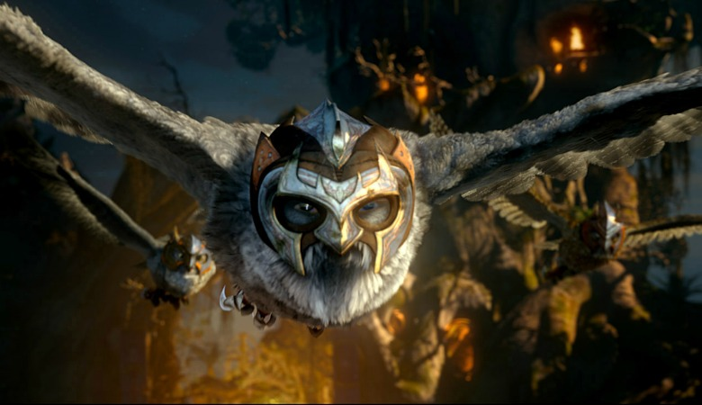 "Allomere, voiced by SAM NEILL in Warner Bros. Pictures' and Village Roadshow Pictures' family fantasy adventure ëLEGEND OF THE GUARDIANS: THE OWLS OF GA'HOOLE"", a Warner Bros. Pictures release. Photo courtesy of Warner Bros. Pictures"
