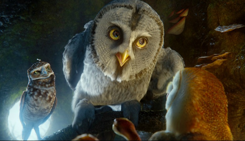 "(L-r) Digger, voiced by DAVID WENHAM, Twilight, voiced by ANTHONY LaPAGLIA, Mrs. Plithiver, voiced by MIRIAM MARGOLYES and Soren, voiced by JIM STURGESS in Warner Bros. Pictures' and Village Roadshow Pictures' family fantasy adventure ""LEGEND OF THE GUARDIANS: THE OWLS OF GA'HOOLE"", a Warner Bros. Pictures release. Photo courtesy of Warner Bros. Pictures"