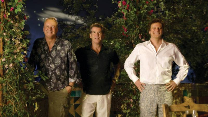 (L to R) Bill Anderson (STELLAN SKARSGĹRD), Sam Carmichael (PIERCE BROSNAN) and Harry Bright (COLIN FIRTH) in the musical romantic comedy ?Mamma Mia!?