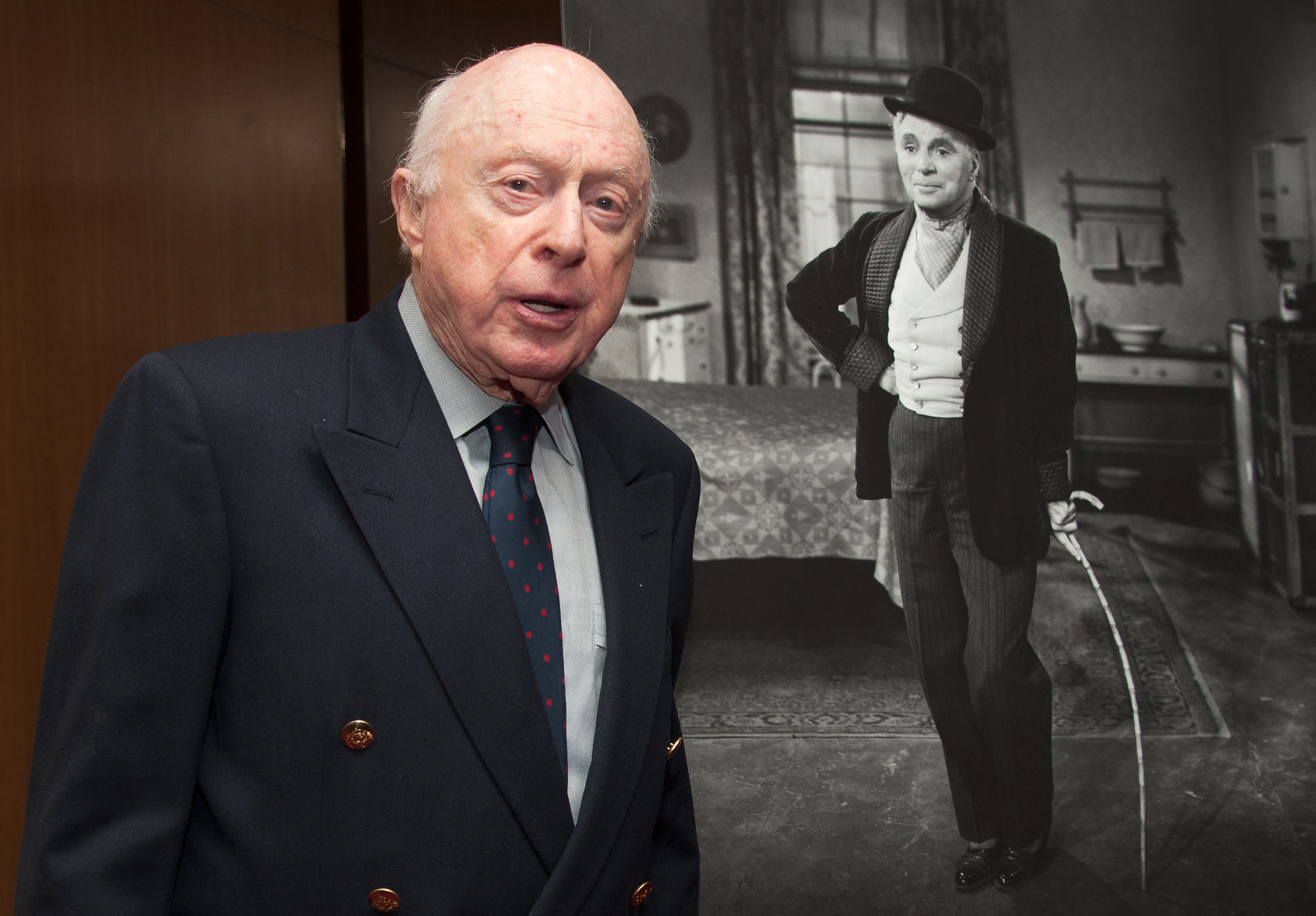 """BEVERLY HILLS, CA - OCTOBER 03: Actor Norman Lloyd attends The Academy Of Motion Picture Arts And Sciences' Presents The 60th Anniversary Screening Of """"Limelight"""" at AMPAS Samuel Goldwyn Theater on October 3, 2012 in Beverly Hills, California. (Photo by Valerie Macon/Getty Images)"""