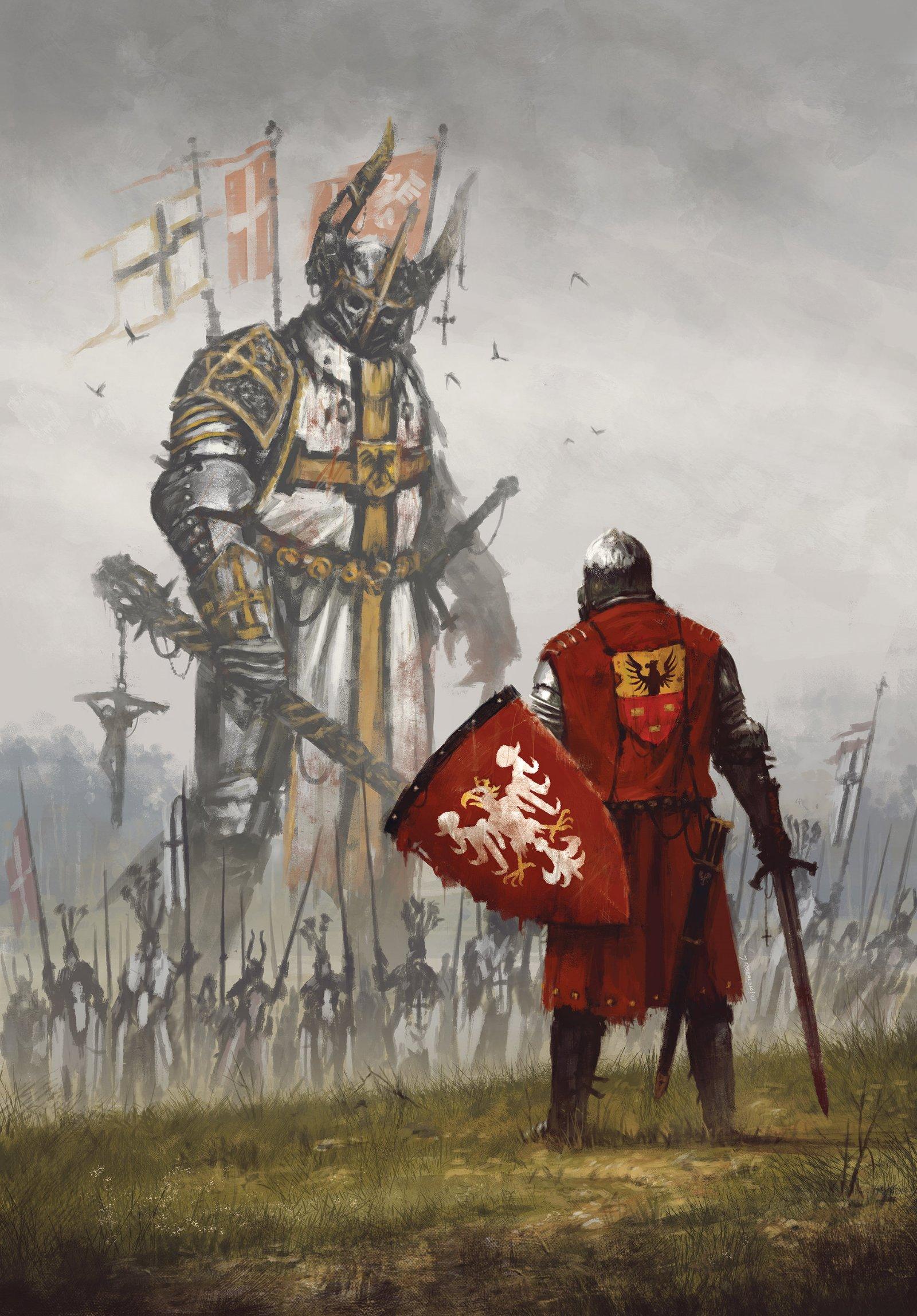 """""""1410"""", rys. Jakub Różalski"""