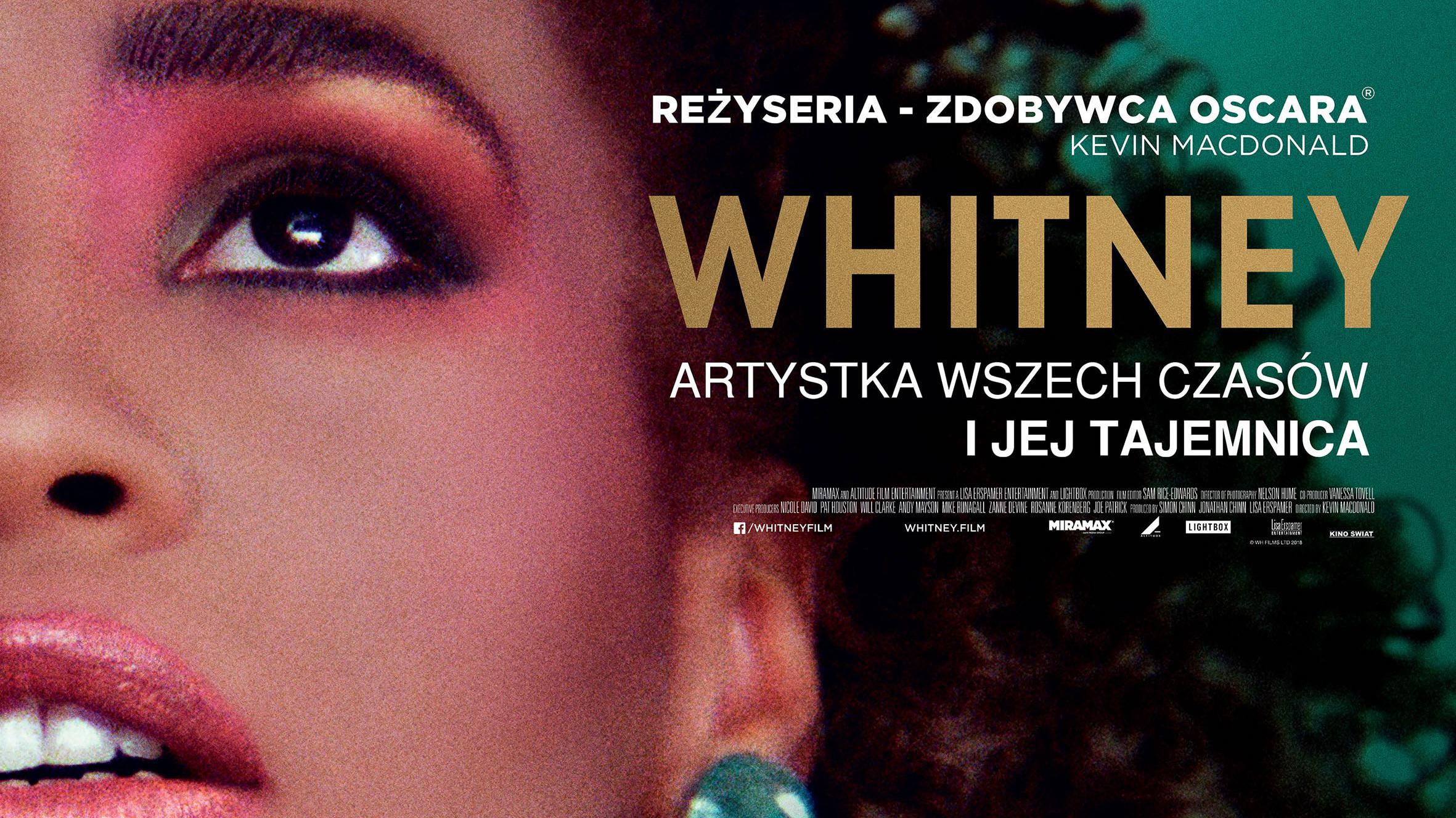 "Plakat do filmu ""Whitney"""