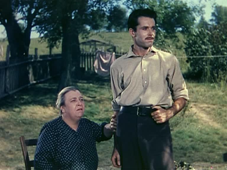 """Jane Darwell i Henry Fonda w filmie """"Jesse James"""" (1939)"""