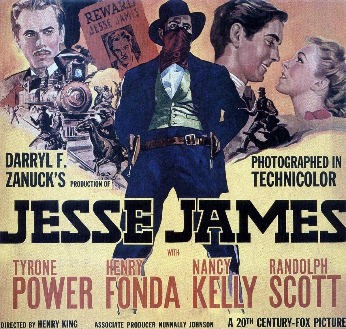Jesse James (1939), reż. Henry King, prod. Darryl F. Zanuck