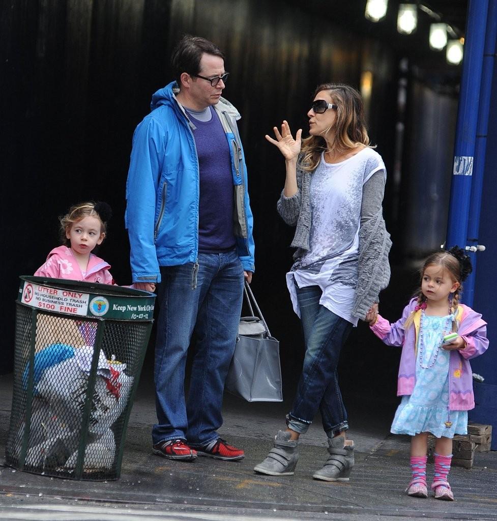 Sarah Jessica Parker i Matthew Broderick z dziećmi