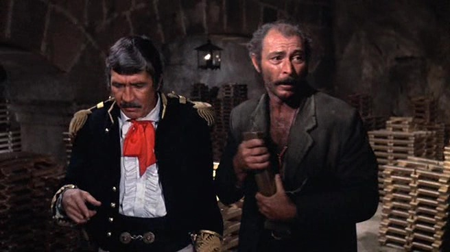 "Patrick O'Neal i Lee Van Cleef w filmie ""El Condor"" (1970)"